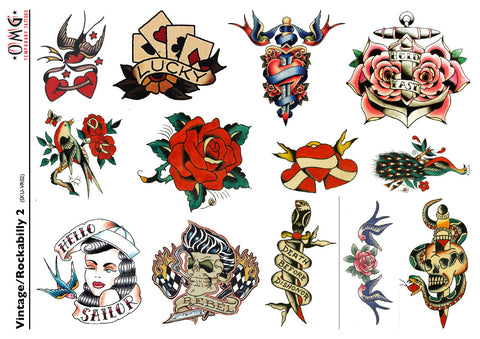 Temporary Tattoos Vintage and Rockabilly 2