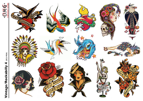 Temporary Tattoos OMG Vintage and Rockabilly 4