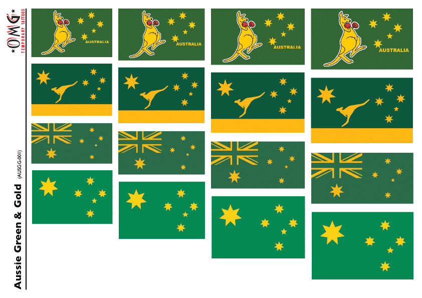 Australian Flag Green & Gold