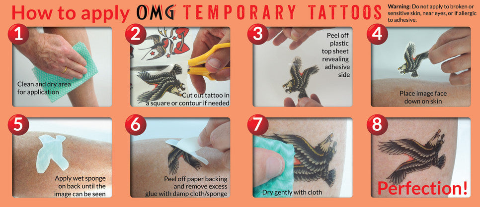 How to apply temporary tattoos