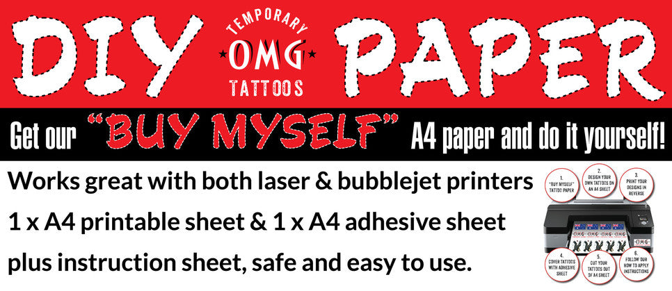 Temporary tattoo DIY Paper