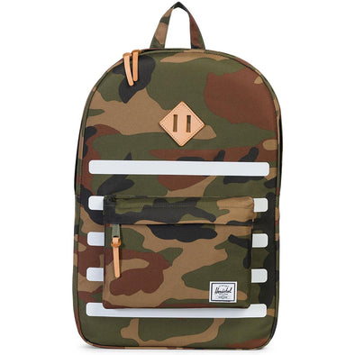 Herschel Heritage Woodland Camo Stripe/Veggie Tan Leather - Offset