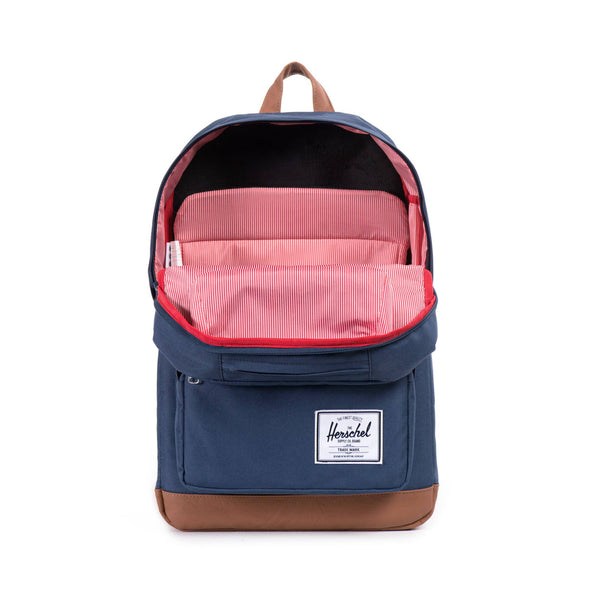 Herschel Pop Quiz Navy Tan Synthetic Leather