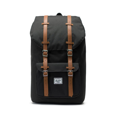 Mochila Herschel Little America Black/Tan Synthetic Leather
