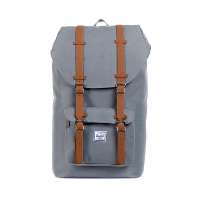 Herschel Little America Grey Tan Synthetic Leather