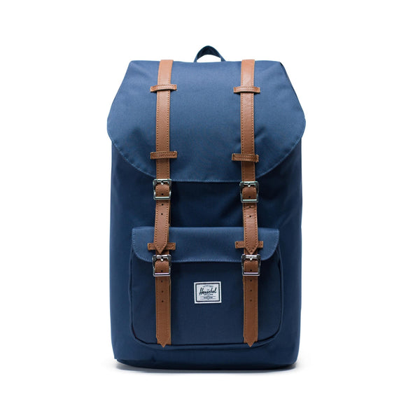 Mochila Herschel Little America Navy/Tan Synthetic Leather