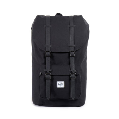 Herschel Little America Black Black Synthetic Leather