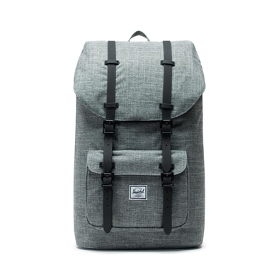 Herschel Little America Raven Crosshatch Black Rubber