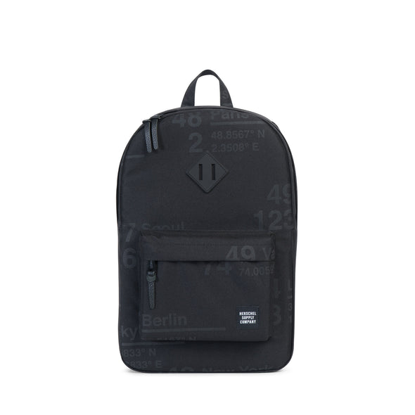 Herschel Heritage Mid Volume Site Black Rubber