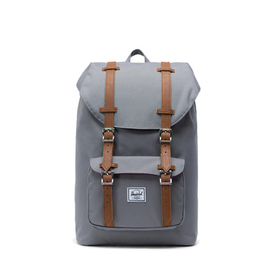 Mochila Herschel Little America Mid-Volume Grey/Tan Synthetic Leather