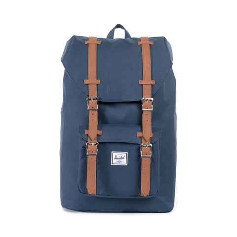 Herschel Little America Mid-Volume Navy Tan Synthetic Leather