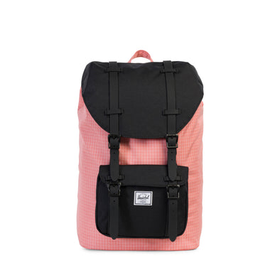 Herschel Little America Mid-Volume Strawberry Ice Grid Black Black Rubber