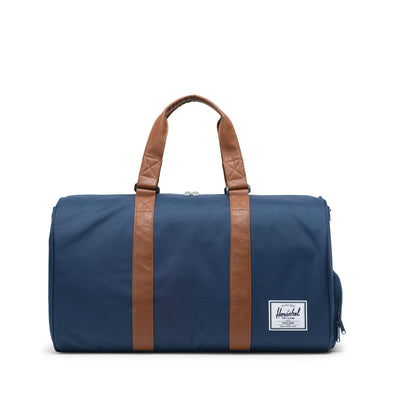Herschel Novel Navy/Tan Synthetic Leather