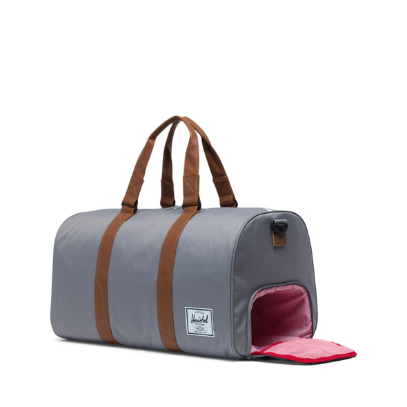 Herschel Novel Grey/Tan Synthetic Leather