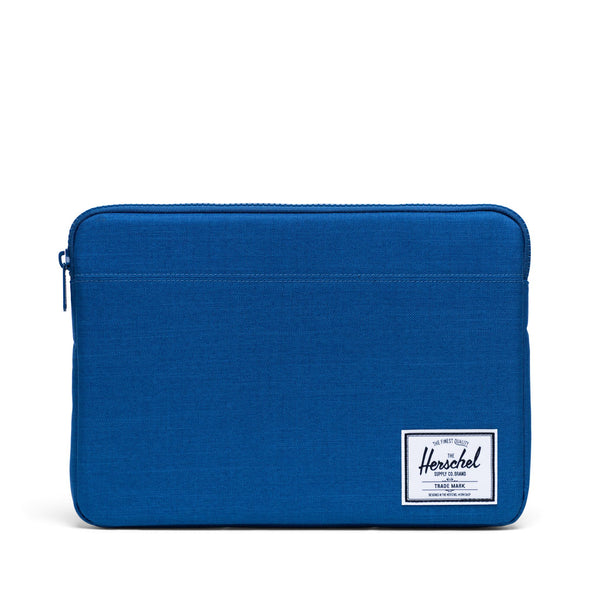 Herschel Anchor Sleeve for MacBook Monaco Blue Crosshatch