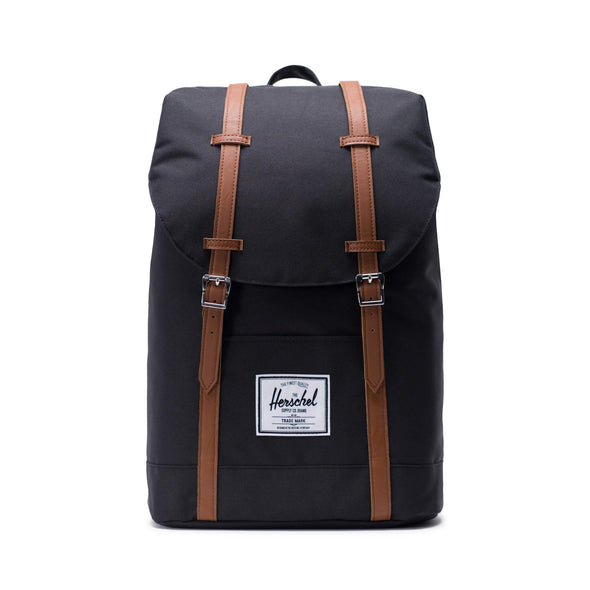 Herschel Retreat Black Tan Synthetic Leather