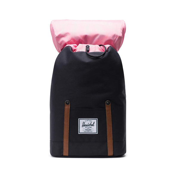 Mochila Herschel Retreat Black/Tan Synthetic Leather