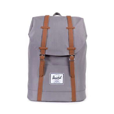 Mochila Herschel Retreat Grey/Tan Synthetic Leather