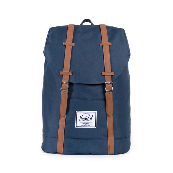 Mochila Herschel Retreat Navy/Tan Synthetic Leather