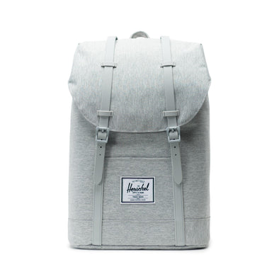 Mochila Herschel Retreat Light Grey Crosshatch/Grey Rubber