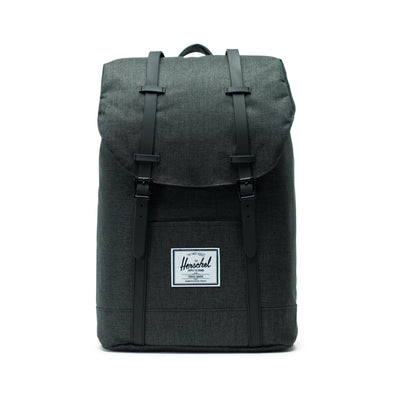Mochila Herschel Retreat Black Crosshatch/Black Rubber
