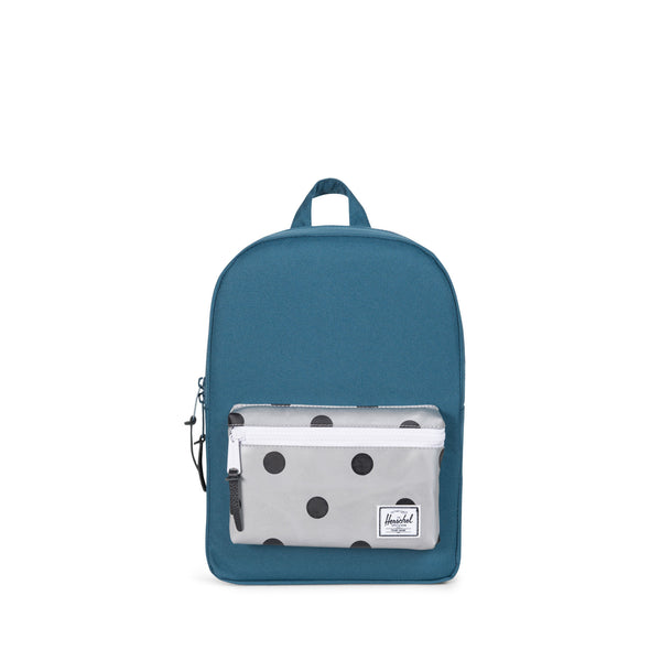 Herschel Settlement Kids Indian Teal Grey 3m Polka Dot
