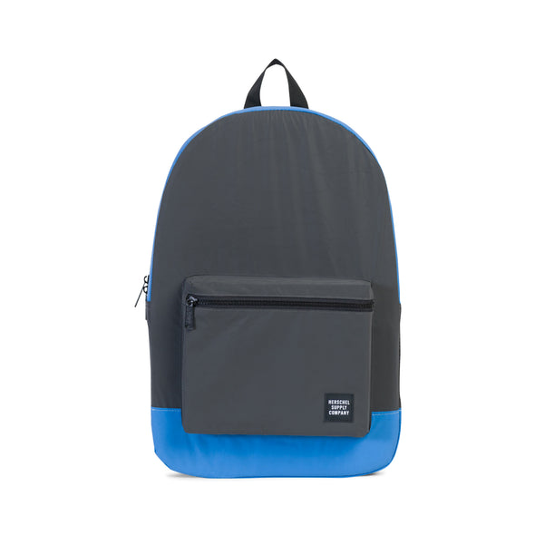 Herschel Packable Daypack Black Reflective Neon Blue Reflective