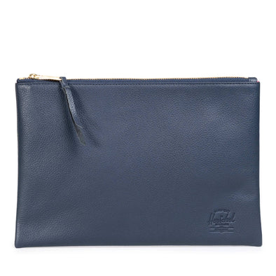 Herschel Network Large Leather Navy Pebbled Leather