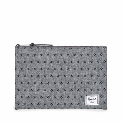 Herschel Network Large Raven Crosshatch/Black Dots