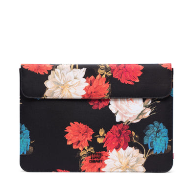 Herschel Spokane Sleeve for MacBook Vintage Floral Black