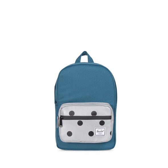 Herschel Pop Quiz Kids Indian Teal Grey 3m Polka Dot