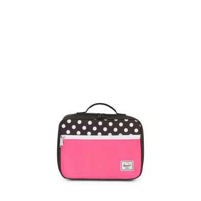 Herschel Pop Quiz Lunchbox Black Crosshatch/Polka Dot/Fandango Pink