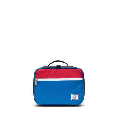 Herschel Pop Quiz Lunch Box Imperial Blue Red/Black Crosshatch