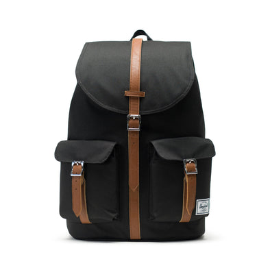 Mochila Herschel Dawson Black/Tan Synthetic Leather