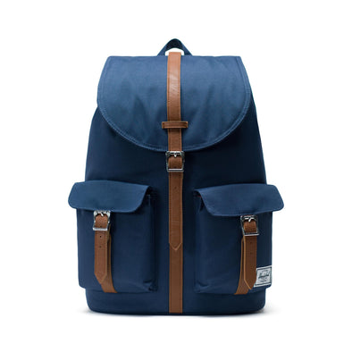 Mochila Herschel Dawson Navy/Tan Synthetic Leather