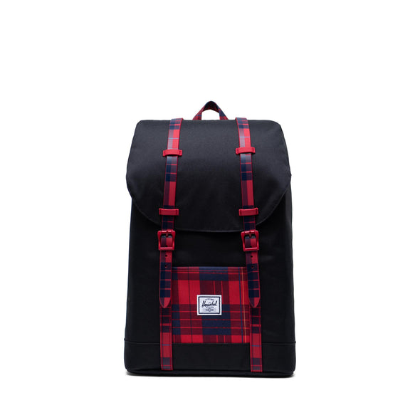 Mochila Herschel Retreat Youth Black/Winter Plaid