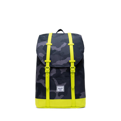 Mochila Herschel Retreat Youth Night Camo/Lime Punch