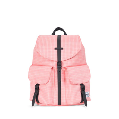 Herschel Dawson X-Small Strawberry Ice Grid/Black Rubber