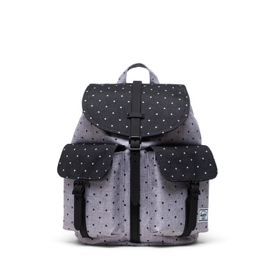 Mochila Herschel Dawson Small Polka Dot Crosshatch Grey/Black
