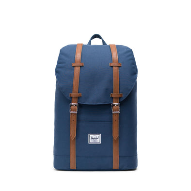 Mochila Herschel Retreat Mid-Volume Navy/Tan Synthetic Leather