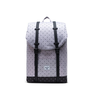 Mochila Herschel Retreat Mid-Volume Polka Dot Crosshatch Grey/Black