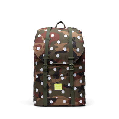 Mochila Herschel Retreat Mid-Volume Woodland Camo White Dot