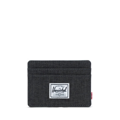 Carteira Herschel Charlie RFID Black Crosshatch
