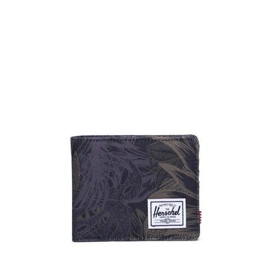 Carteira Herschel Roy RFID Dark Jungle