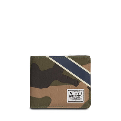 Herschel Roy + Coin XL RFID Woodland Camo/Silver Green/Dark Denim - Offset