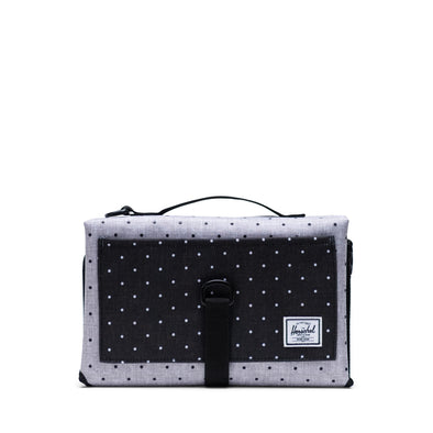 Herschel Sprout Change Mat Polka Dot Crosshatch Grey/Black