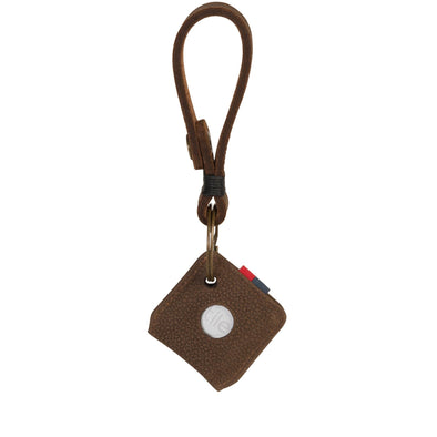 Porta Chaves Herschel Keychain + Tile Brown Pebbled Nubuck