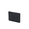 Carteira Herschel Charlie + Tile Black Pebbled Leather