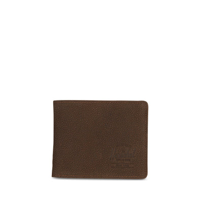 Carteira Herschel Roy + Tile Brown Pebbled Nubuck