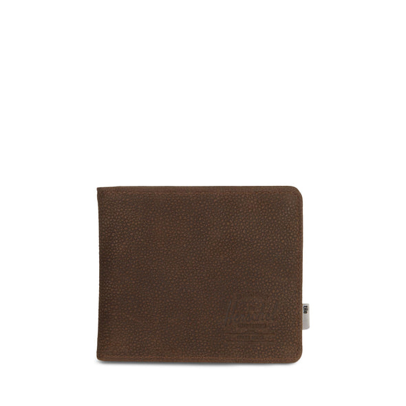 Carteira Herschel Roy Coin XL + Tile Brown Pebbled Nubuck